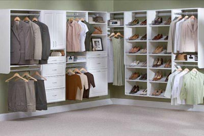 ... Closet Organizers Toronto   Wood Shelving   White Walk In   Keystone ...